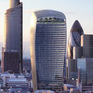 20 Fenchurch Street, London with skyscrapers in background