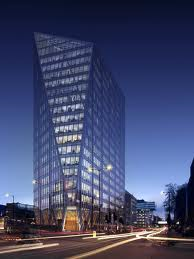 240 Blackfriars Road exterior at dusk