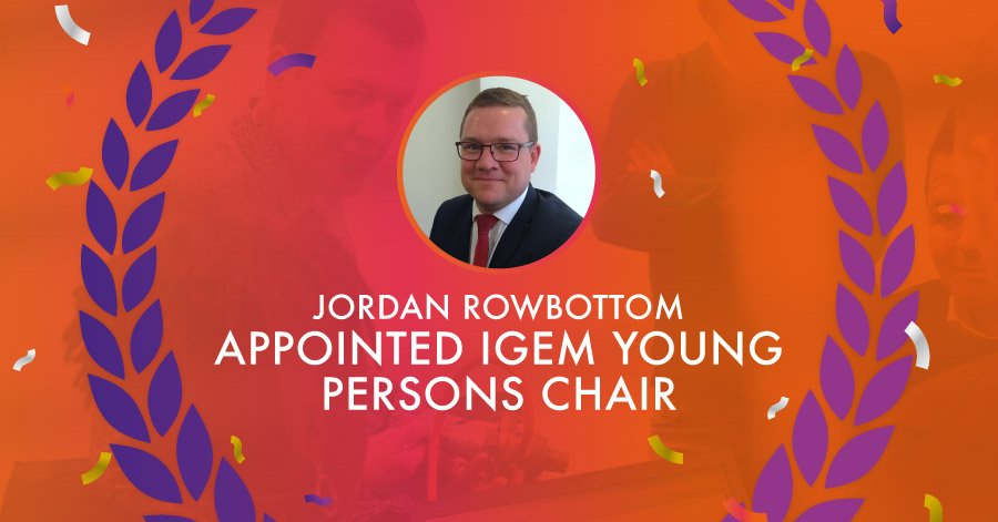 Jordan Rowbottom captioned with 'appointed young persons chair'
