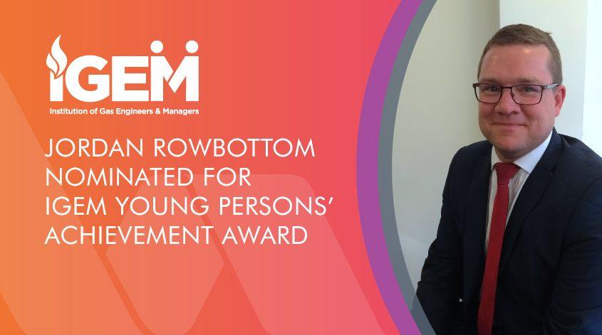 Jordan Rowbottom nominated for iGEM award