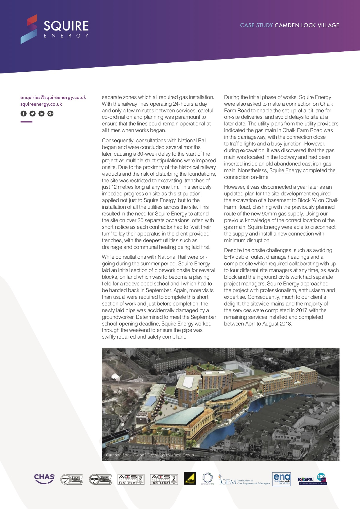 Camden Lock Village case study page two