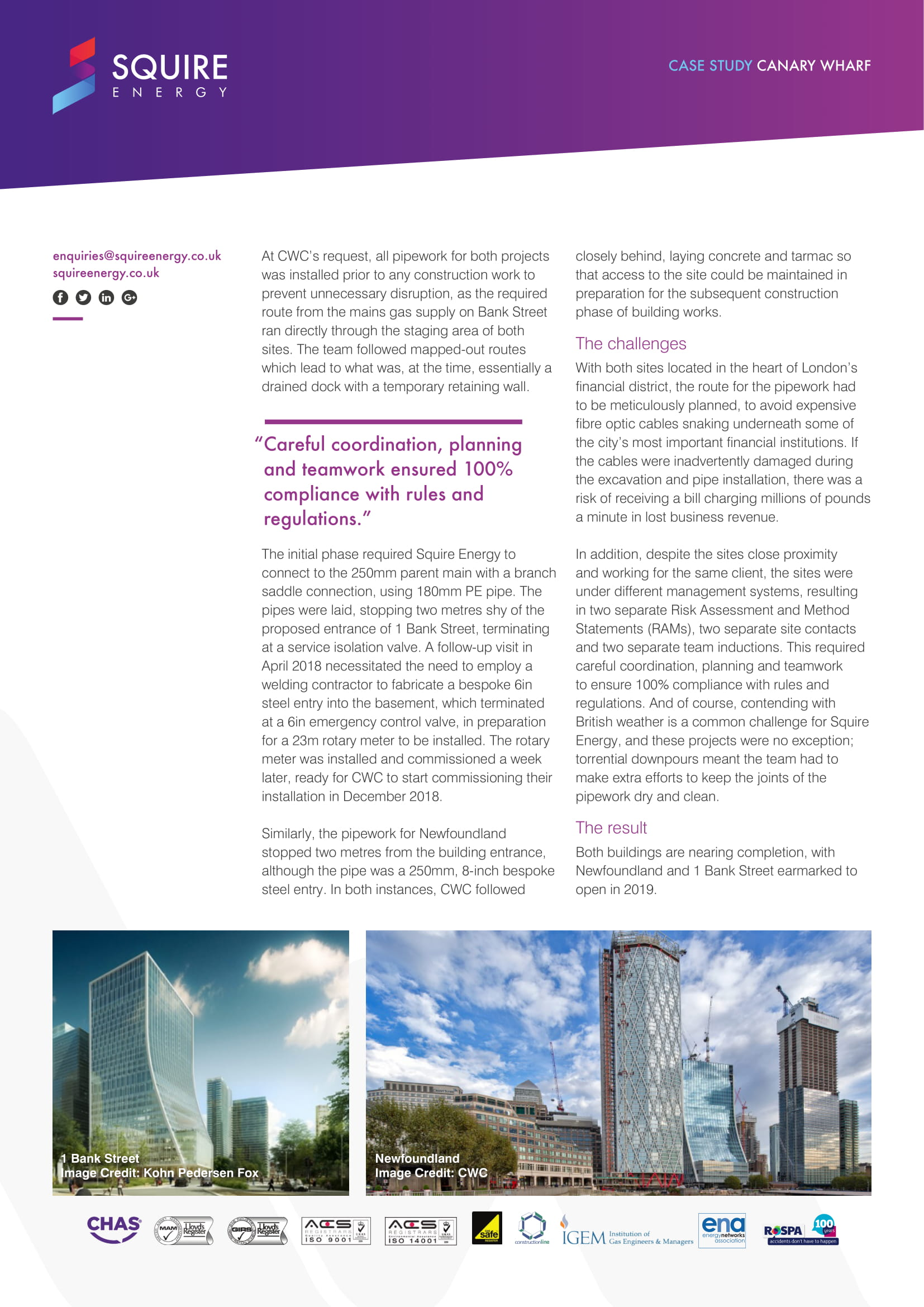 canary wharf case study page 2