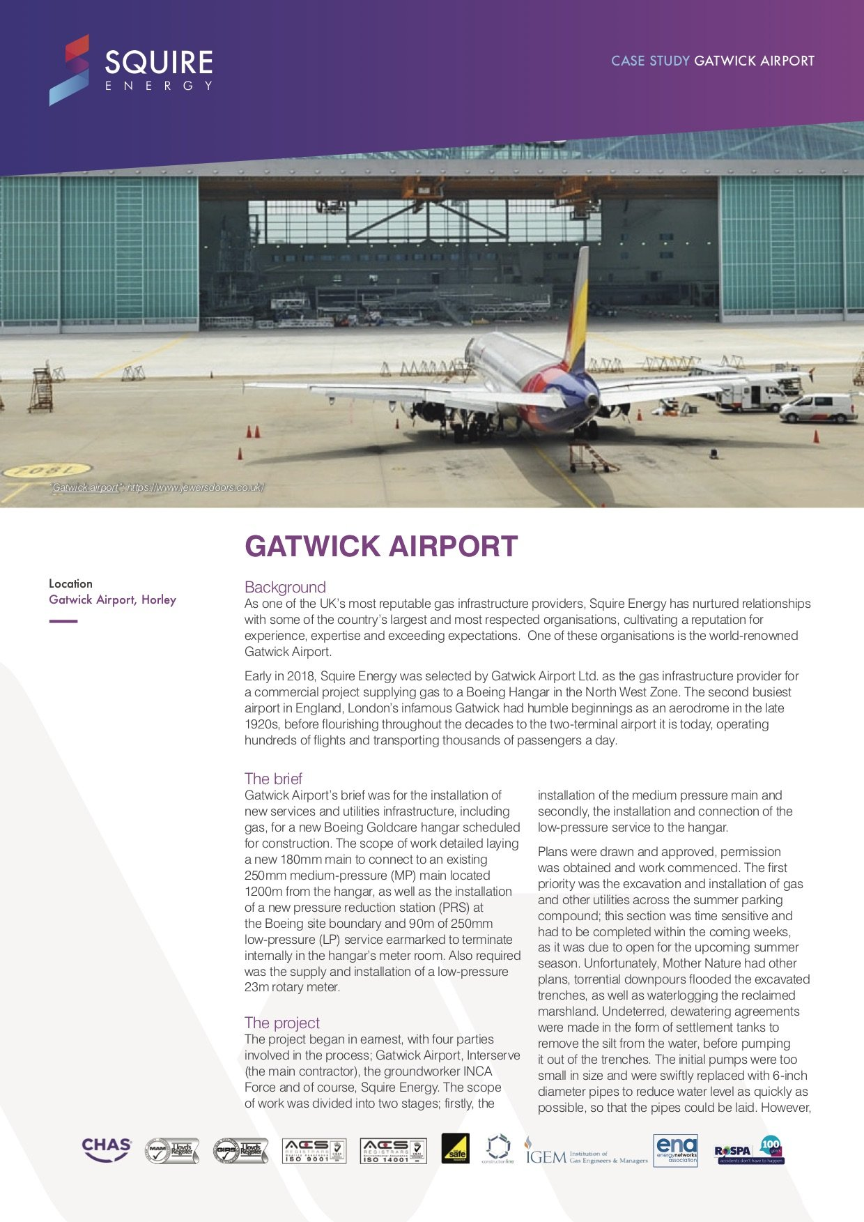 Gatwick Airport page one