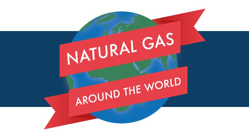 Natural Gas Around the World graphic