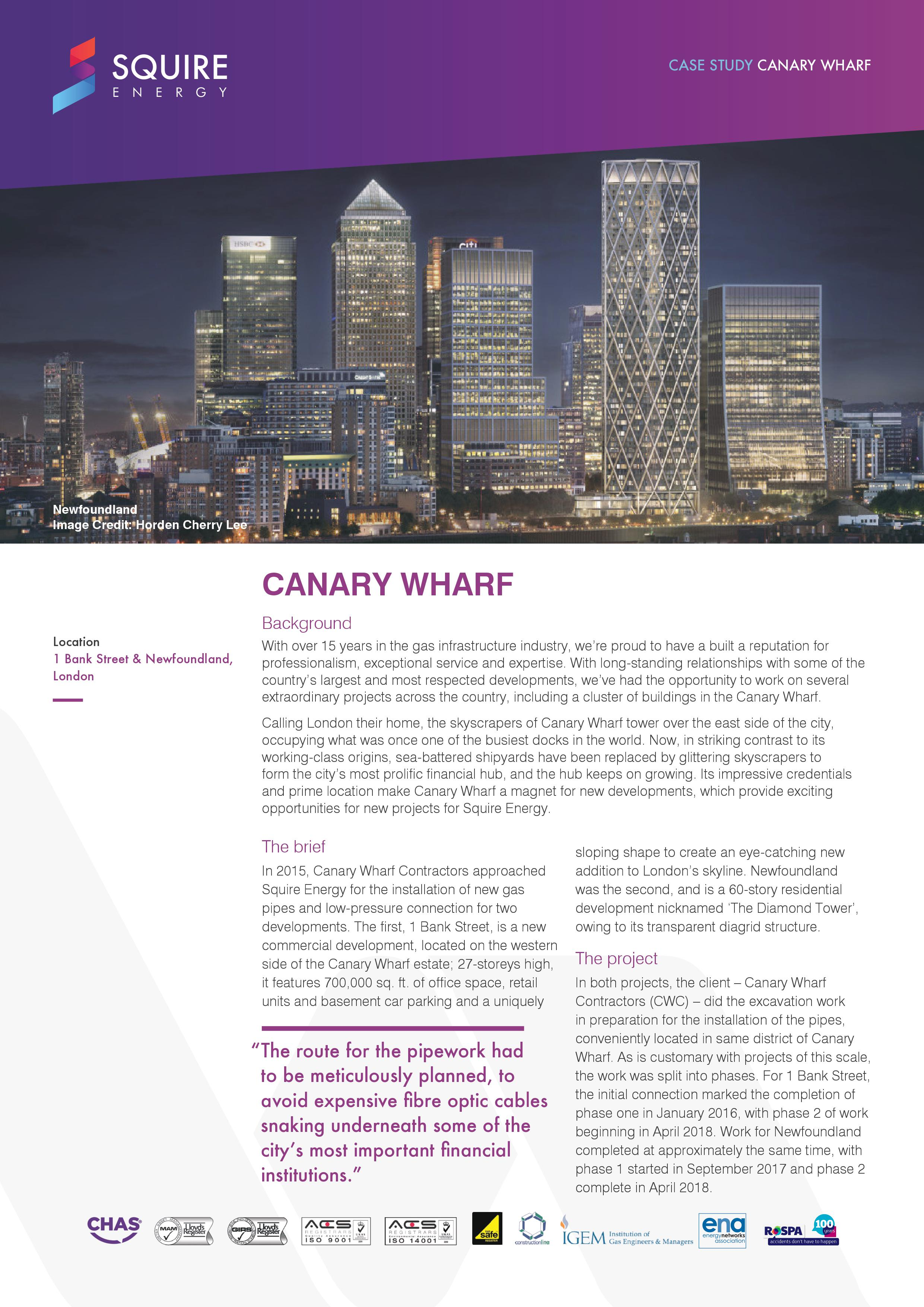 canary wharf case study page 1